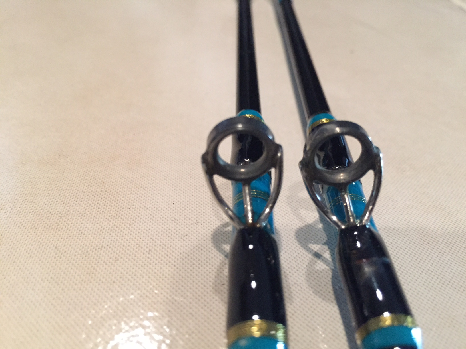 Sold seeker wire line rods the hull truth boating and for Wire fishing rod